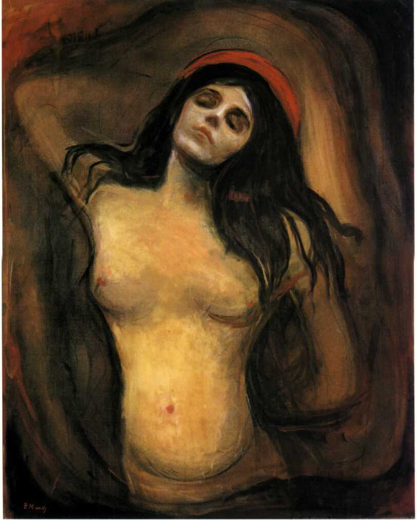 Vos oeuvres picturales favorites MUNCH_Edvard-1894-95-Madonna